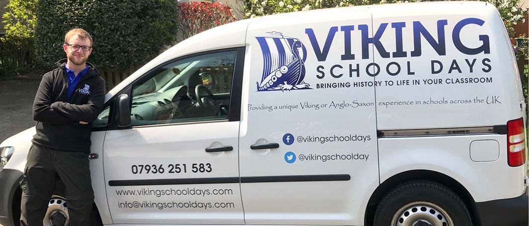 Viking School Days van and staff