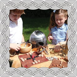 Children using Viking materials