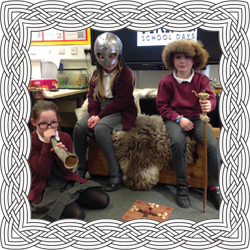 School trip dressed as Vikings